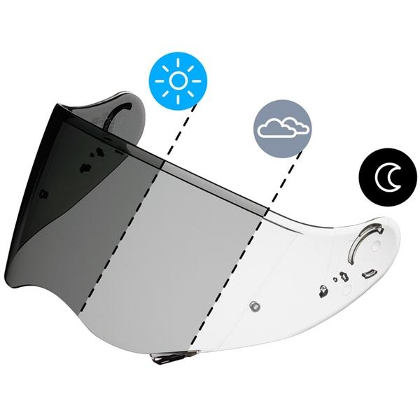 SHOEI Visière CNS-2 Photochromatique (préparée Pinlock)