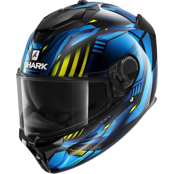 SHARK Spartan GT Replikan Zwart-Chroom-Blauw KUB
