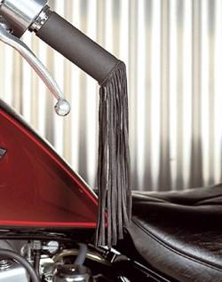 HELD : Franges en cuir Noir - poignée