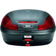 GIVI E470 Simply III top case reflecteurs rouges, cache noir