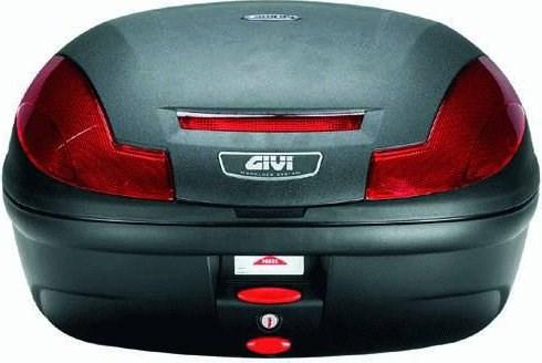 GIVI E470 Simply III topkoffer rode relfectoren, zwarte cover