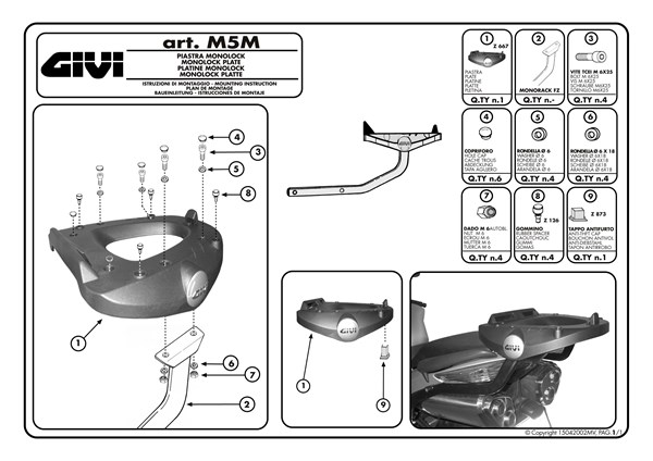 Montage instructies M5M