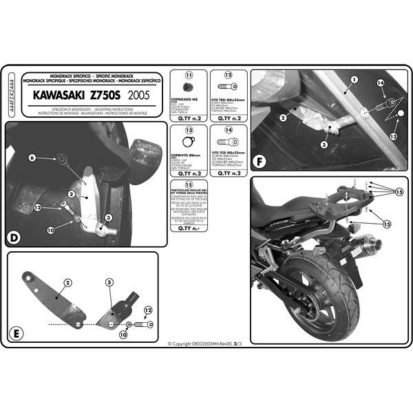 Montage instructies 444FZ -2