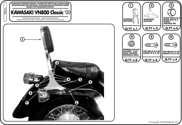 Montage instructies TS835