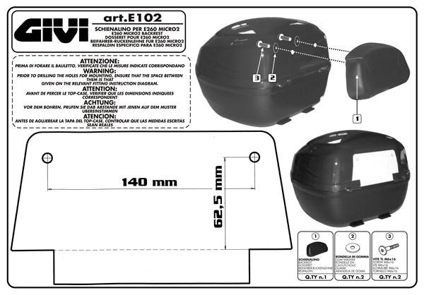 Montage instructies E102