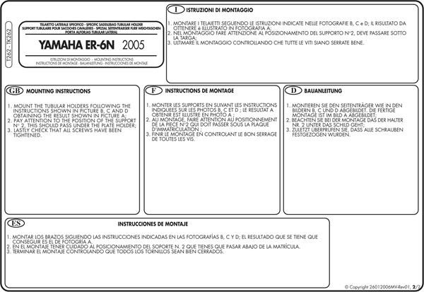 Montage instructies T262 -2