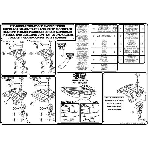 Montage instructies MM