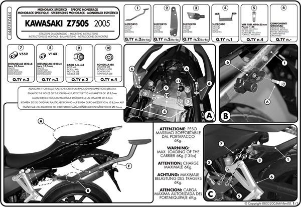 Instructions de montage 444FZ -1
