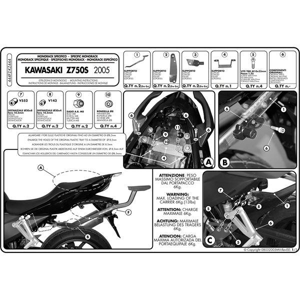 Montage instructies 444FZ -1