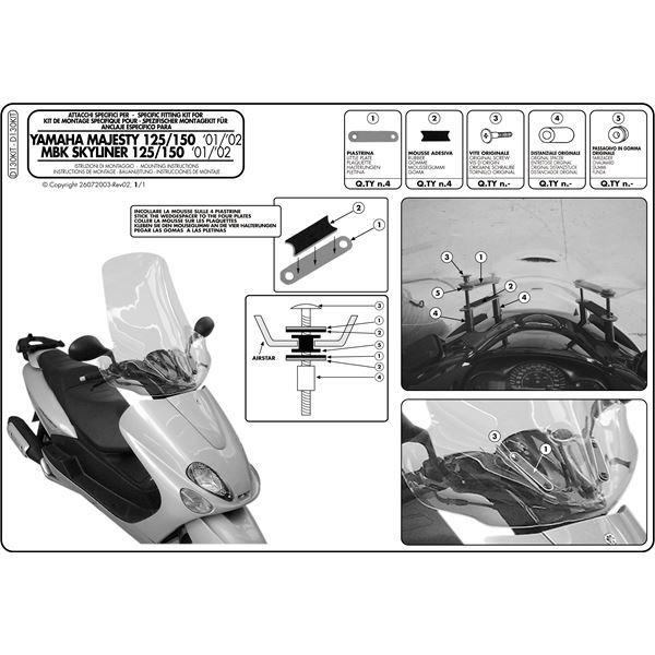 Montage instructies D130KIT