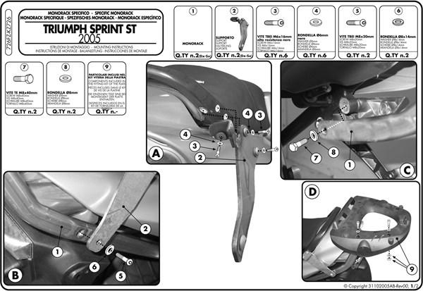 Montage instructies 726FZ -1