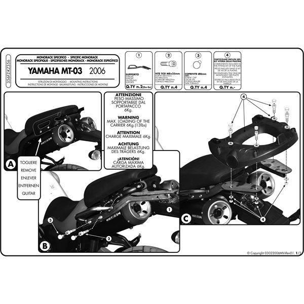 Montage instructies 356FZ -1
