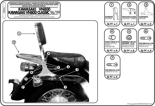 Montage instructies TS834