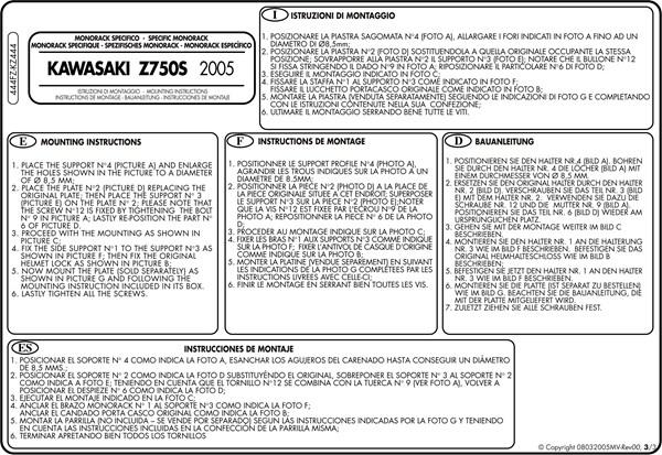 Instructions de montage 444FZ -3