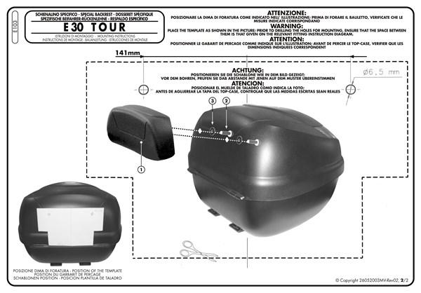 Montage instructies E103 -2