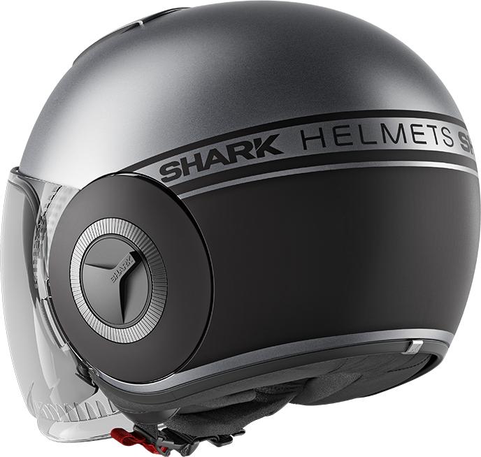 S Shark Casque moto NANO STREET NEON MAT AKK Anthracite