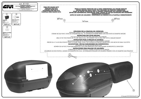 Instructions de montage E110