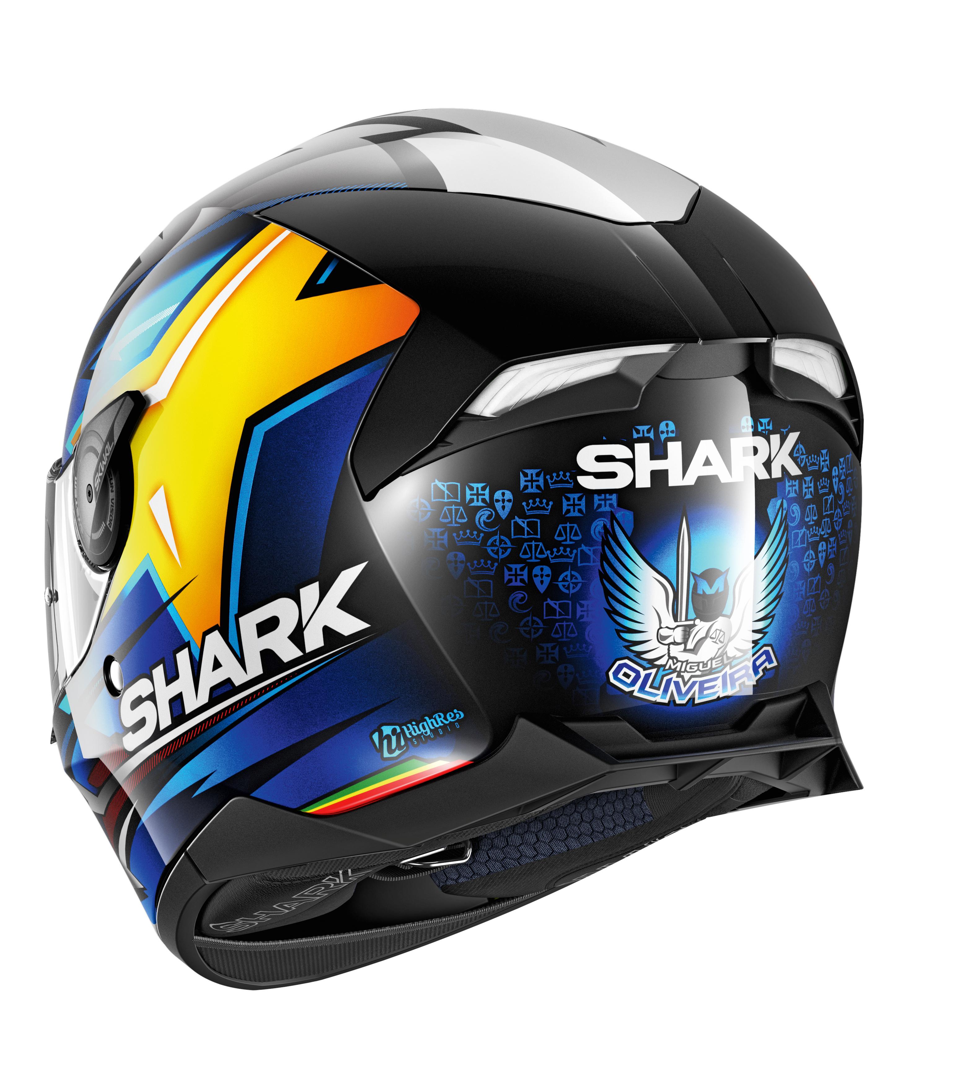 Noir//Bleu//Jaune XS Shark Casque moto SKWAL 2 OLIVEIRA KBY