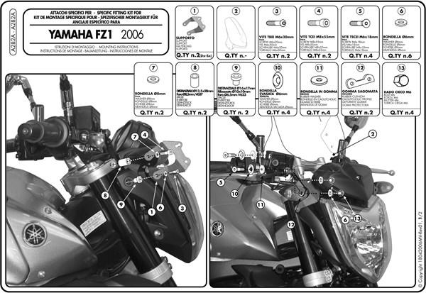 Instructions de montage A282A -1