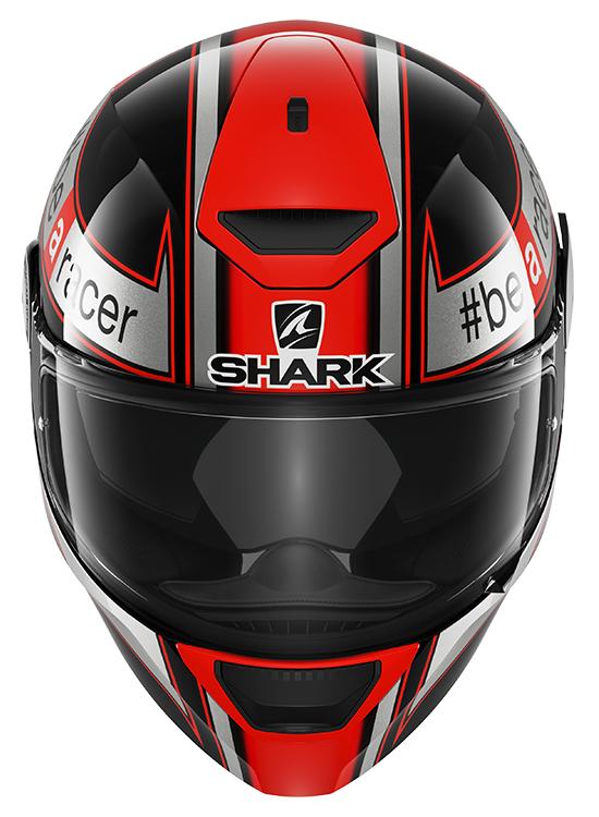 Casque intégral SHARK D-Skwal Sam Lowes réplica noir gris mat moto led route
