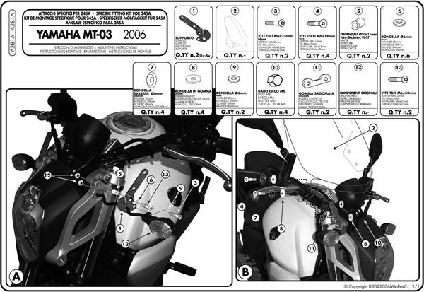 Instructions de montage A281A -1