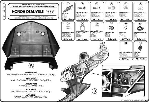 Montage instructies E221 -1