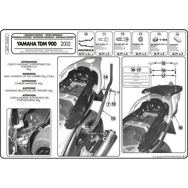 Instructions de montage 266FZ