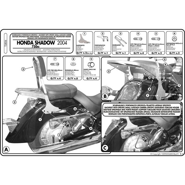 Montage instructies TS806 -1