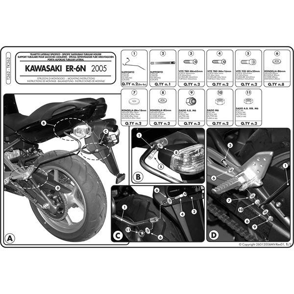 Montage instructies T262 -1