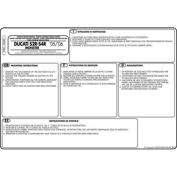 Montage instructies T680 -2