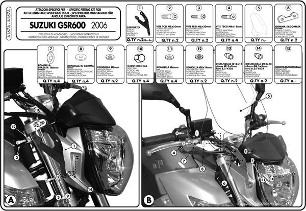 Instructions de montage A167A -1