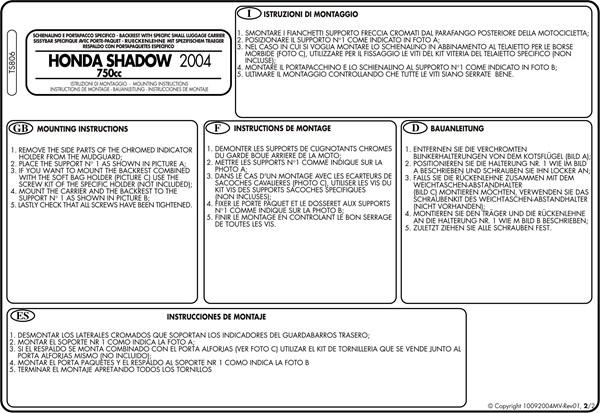 Montage instructies TS806 -2
