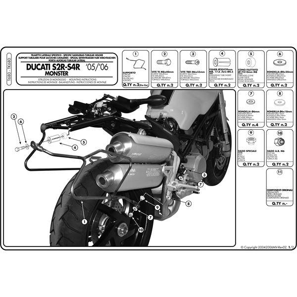 Montage instructies T680 -1