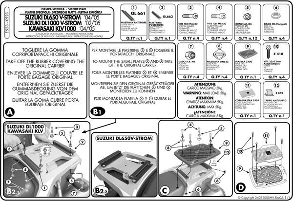 Montage instructies E528