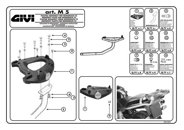 Montage instructies M5