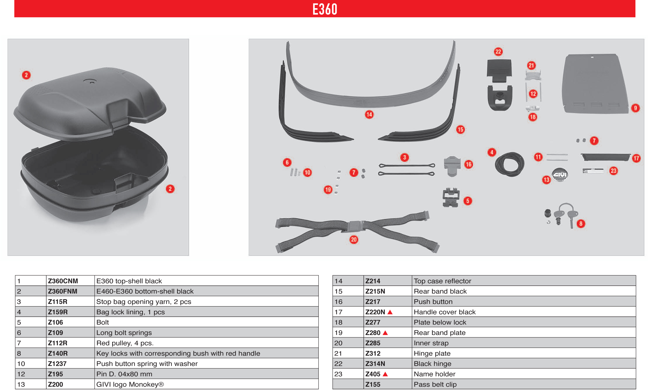 Givi E212 Fixation pour Coffre Monokey Compatible avec Honda XL 1000 V Varadero 1999 2006